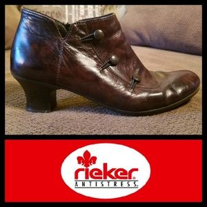 RIEKER Victorian 3 Button Ankle Boots 39
